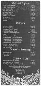 Hair icon sale price list