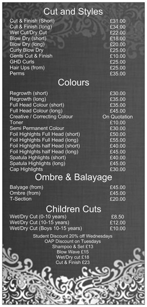 Hair icon sale price list
